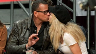 PIC: Alex Rodriguez Kisses New Girlfriend Torrie Wilson