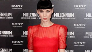 Rooney Mara Ditches Black, Wears a Stunning Red Gown