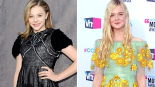 Teen Stars Elle Fanning and Chloe Moretz Wear Daring Designer Looks at Critics' Choice Awards