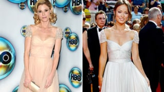 Julie Bowen Copies Olivia Wilde's 2008 Emmy Dress at Golden Globes
