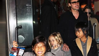 Brad Pitt Bribes Kids With Coca-Cola to Wake Up in the Morning