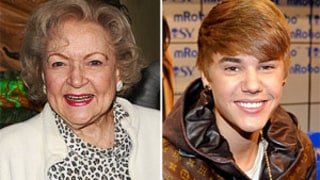 Hot in Cleveland's Betty White Tries to Steal a Lock of Justin Bieber's Hair