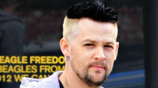 Joel Madden Brings Back Two-Tone Hair!