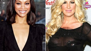 Zoe Saldana and Kim Zolciak