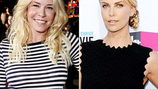 Chelsea Handler and Charlize Theron