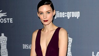Rooney Mara Wears Daring Dress Cut Down to Her Navel