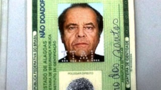 Brazilian Man Busted for Using Fake Jack Nicholson Photo ID!