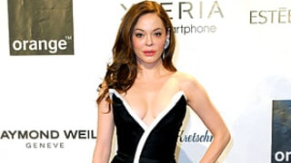 Rose McGowan Flaunts Cleavage in Super Low-Cut Gown