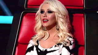 Slimmed-Down Christina Aguilera Covers Up Cleavage on The Voice