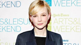 Carey Mulligan Wore Custom Prada Wedding Dress, Pink Rain Boots