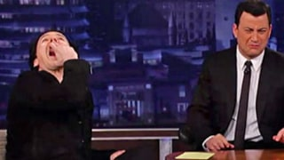 Ew! John Cusack Drinks Hand Sanitizer with Jimmy Kimmel