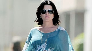 Neve Campbell Reveals Pregnancy Curves in Sheer Top