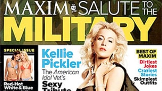PIC: Kellie Pickler Wears Sexy Military Outfit on Maxim Cover