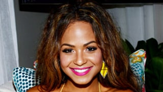 Christina Milian Chills in the Mercedes-Benz Star Lounge in Miami