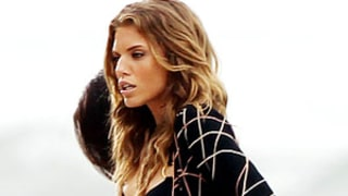PIC: AnnaLynne McCord Rocks Super-Sexy Black Bikini on 90210 Set