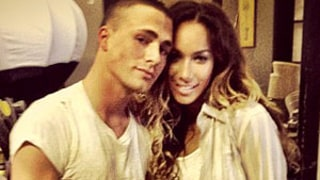 Colton Haynes Cozies Up to Leona Lewis on Music Video Set