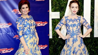 Who Wore It Best: Sharon Osbourne or Lily Collins?