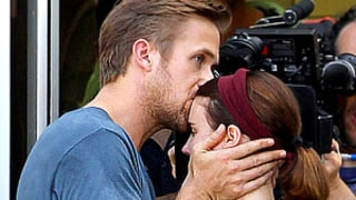 Ryan Gosling Kisses Rooney Mara on Movie Set!