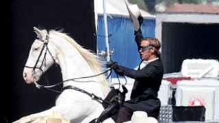 PIC: See Armie Hammer, As The Lone Ranger, Ride His White Stallion