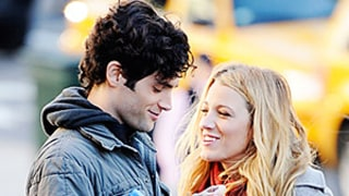 PIC: Blake Lively, Penn Badgley Share a Laugh on Gossip Girl Set