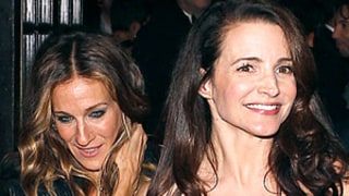 Sarah Jessica Parker and Kristin Davis Reunite at amFAR After Party