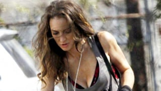 PIC: Winona Ryder Flashes Cleavage Playing Biker Chick on Homefront