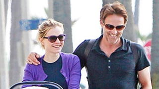 PICTURES: Anna Paquin, Stephen Moyer Go for a Stroll With Their Newborn Twins