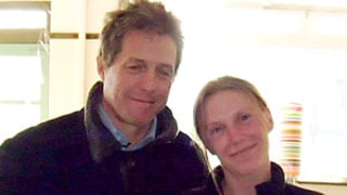 Awkward Picture! Hugh Grant Poses With Woman Breastfeeding Her Baby