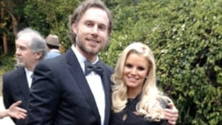 Pregnant Jessica Simpson Shows Off Baby Bump in Bridesmaids Dress at CaCee Cobb's Wedding