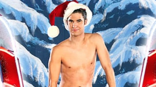 Darren Criss Wears Sexy Santa Costume, Goes Shirtless in Glee Calendar