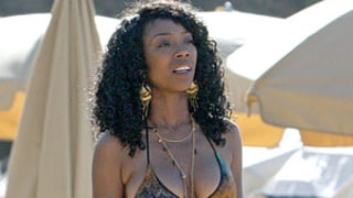 Brandy Steps Out After Ryan Press Engagement Wearing Bikini, Belly Chain