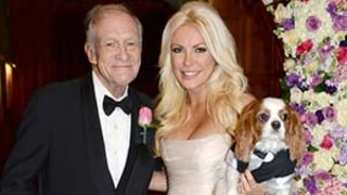 Hugh Hefner Marries Crystal Harris: See Her Pink Wedding Dress!