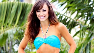 Karina Smirnoff Shows Off Super-Toned Abs in Skimpy Blue Bikini: Picture