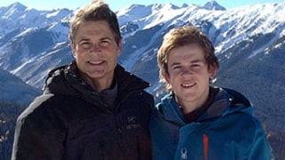 Rob Lowe Goes Skiing With Sons Matthew and Johnowen, Patrick Schwarzenegger