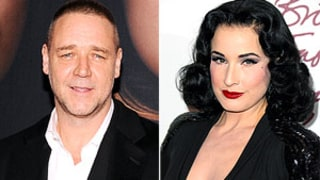 Russell Crowe Denies Dating Dita Von Teese:
