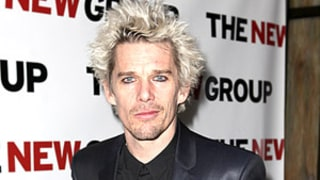 Ethan Hawke Rocks Blonde Spiky Hair, Looks Like Billy Idol: Picture