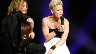 Pink Interrupts Concert to Comfort Crying Little Girl