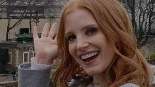 Jessica Chastain Freaks Out Encountering Herself on Billboard in Paris