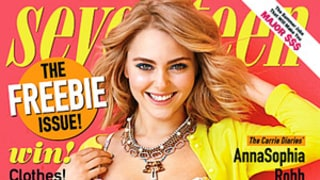 AnnaSophia Robb of The Carrie Diaries Models Floral Swimsuit for Seventeen Cover