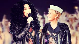 Ellen DeGeneres Wears Cher's Famous Sheer Bodysuit in Hilarious Picture