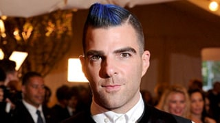 Zachary Quinto Models a Blue Mohawk at the Met Gala: Hot or Not?