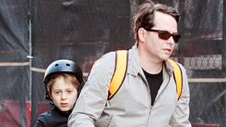 James Wilkie Wears Mismatched Shoes, Gets Ride on Bike From Dad Matthew Broderick