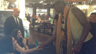 Dennis Rodman Crashes Kendall and Kylie Jenner's PacSun Appearance