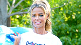 Denise Richards Reveals Slim Bikini Body By the Pool With Her Kids