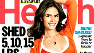 Jordana Brewster Models Orange Bikini, Flaunts Toned Abs on Health Cover