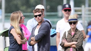 Reese Witherspoon, Jim Toth Join Ryan Phillippe, Girlfriend Paulina Slagter at Son Deacon's Football Game: Picture