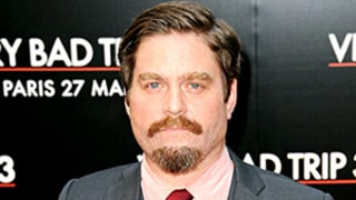 Zach Galifianakis Shaves Beard, Debuts Goatee at Paris Premiere
