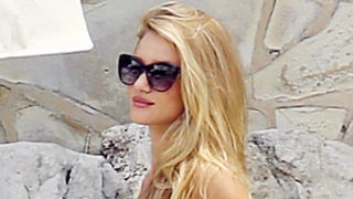 Rosie Huntington-Whiteley Wears Neon Green Bikini, Hugs Jason Statham