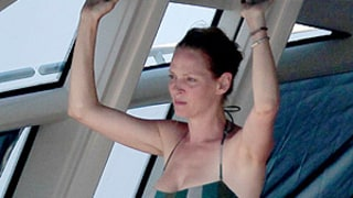 Uma Thurman, 43, Shows Off Toned Bikini Body, Cuddles Baby Luna: Pictures
