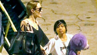 Angelina Jolie Returns to L.A. From Hawaii With Sons Maddox, 11, and Pax, 9: Picture